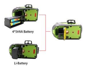Image 5 - 2pcs Lion Battery Fukuda 12 Line 3D laser level 360 Vertical And Horizontal Laser Level Self leveling 515NM Sharp Laser Level