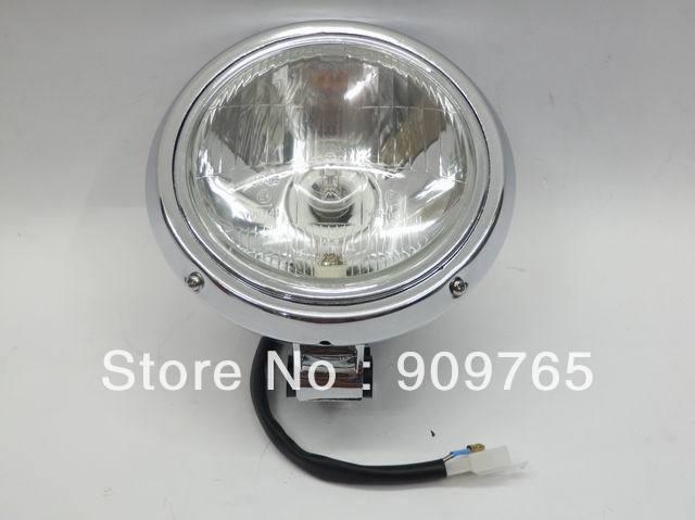 Free Shipping Chrome Headlight Head Lamp for Honda CMX 250 Rebel 250 Steed 400 600 Magan 250 750 All years