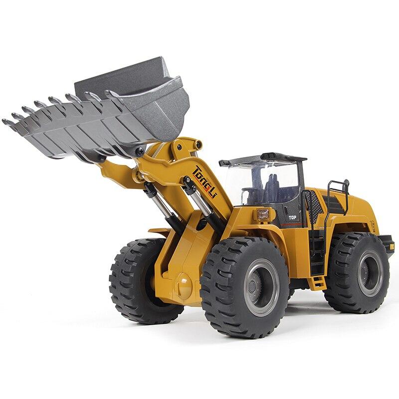 Tongli Huina télécommande Bulldozer RC ingénierie véhicule jouet 2.4G 1:14 RC chargeur tracteur électrique Construction modèle de voiture