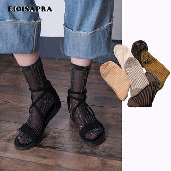 [EIOISAPRA]Striped Bright Silk Cotton Japan Socks Women Heap Creative Sexy Harajuku Sen Department Hollow Out Sokken - discount item  42% OFF Women's Socks & Hosiery
