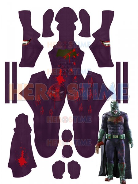 Free Shipping 3D Printed The Joker Batman Imposter Version Cosplay Costumes Lycra Suicide Squad Halloween Costume Only Bodysuit