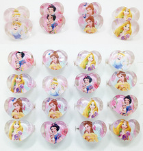12pcs/lot Disney Princess Crystal Acrylic Finger Rings Party Favors Baby Shower Gift Supplies