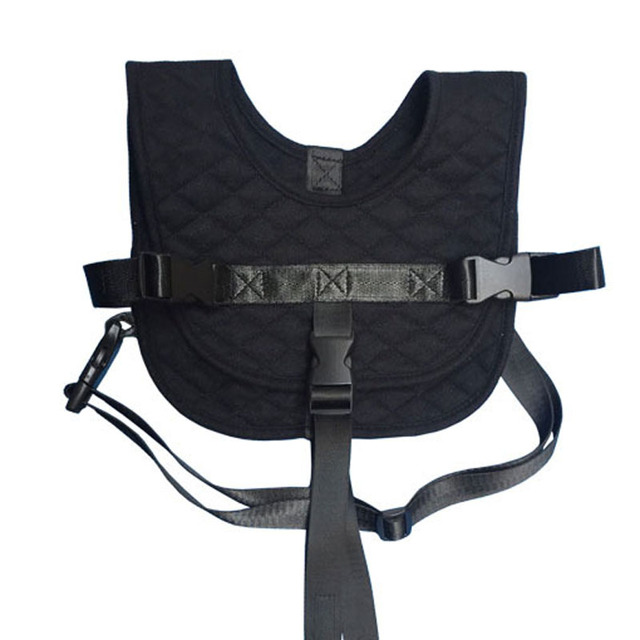 Portable Baby Travel Safety Vest Black Travel Feeding Chair Clothes Infant Safety Strap Baby Seat Cover for 8-24 Months