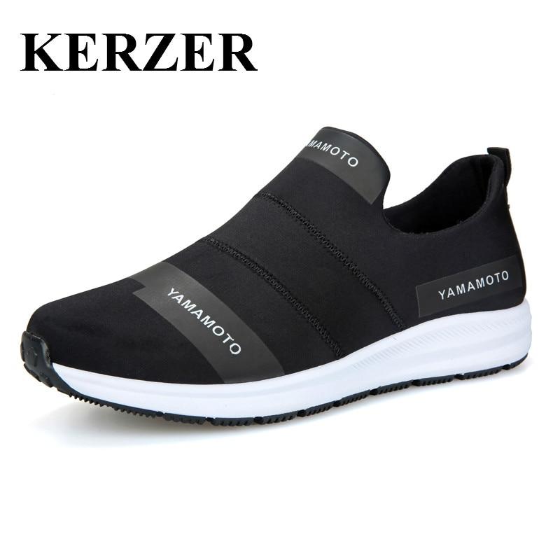 Kerzer 2017 nuevos mens athletic zapatos negro azul zapatillas de deporte corrie