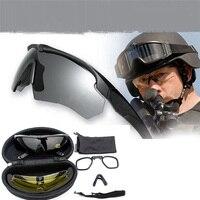US Militare Croce Occhiali, Ballistic 3 Lenti, Occhiali Da Sole dell'esercito con il Marchio Originale, uomo Tactical Eyeshield