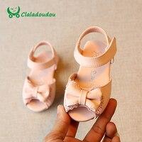 Claladoudou בייבי סנדלי בנות נעלי נעלי הילדים הילדה תחרה חמוד ורוד קשת לבנה רוז האדום תינוק סנדלי נעל פעוט עבור תינוקות