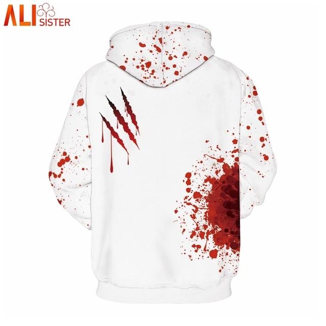 Alisister I'm Fine Horror Wound 3d Hoodies  1