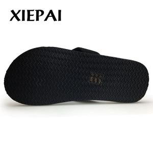 Image 4 - Zapatillas de playa/casa 2019 Chanclas de moda para hombre tallas 41 46 zapatos de verano informales de diseñador para hombre