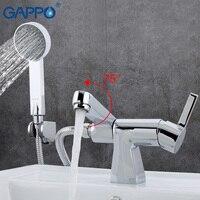 Gappo torneira da banheira chuveiro do banheiro torneiras de parede do chuveiro misturador da pia da banheira bronze cachoeira torneira ga1204