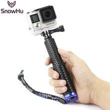 ee91578198115c SnowHu Uzatılabilir El Sopa Teleskopik Monopod Tripod selfie sopa Gopro Hero  7 6 5 4 3 + xiaomi yi 4 K sjcam GP180