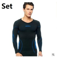 C C Market Free Shipping Quick Drying Fitness Men S Warm Thermal Underwear Sports Sets Brand