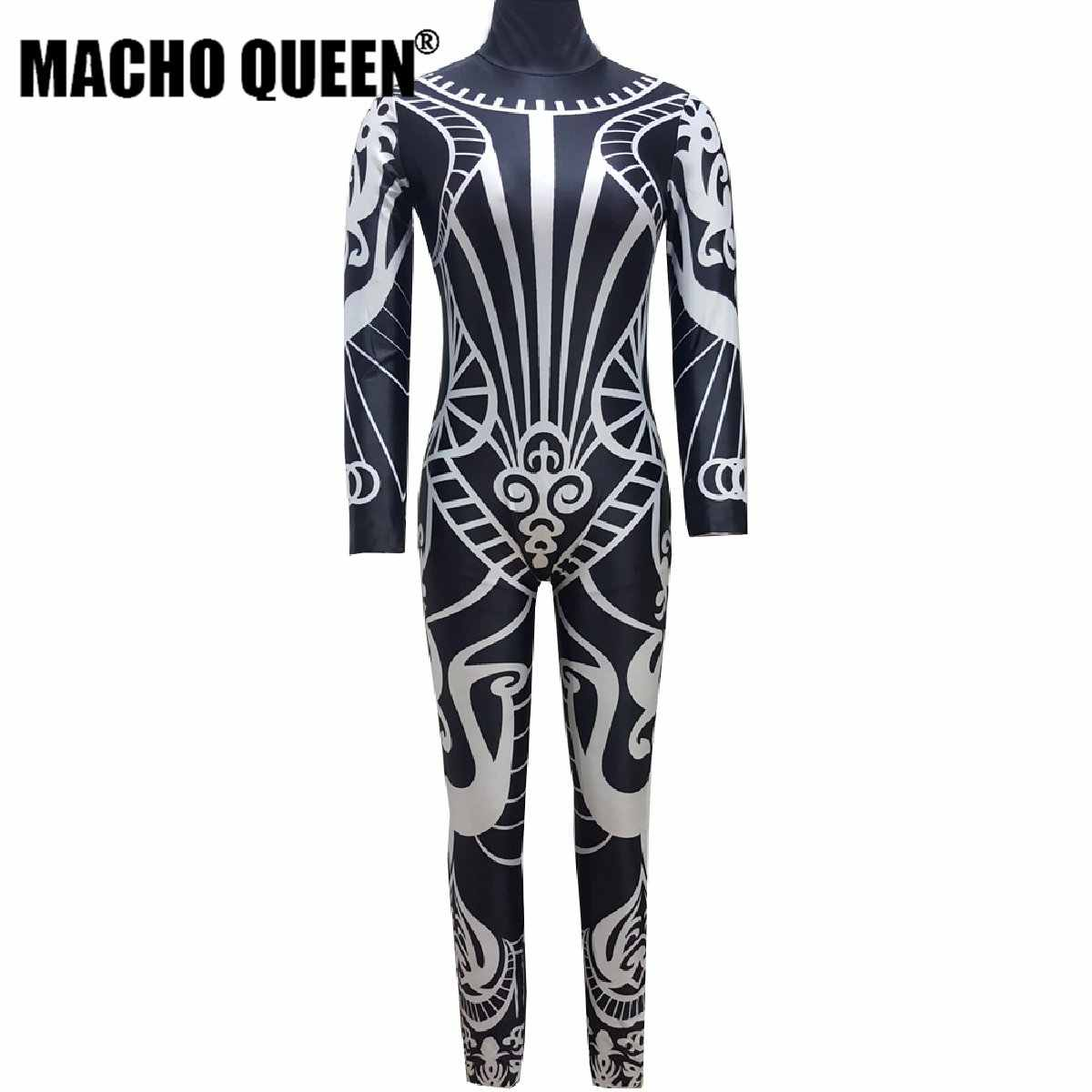 Drag Queen Costumes Tattoo Print Jumpsuit Bodysuit Stage Dancer Performance  Costume Party Celebrity Clothing 3ed85453ae67