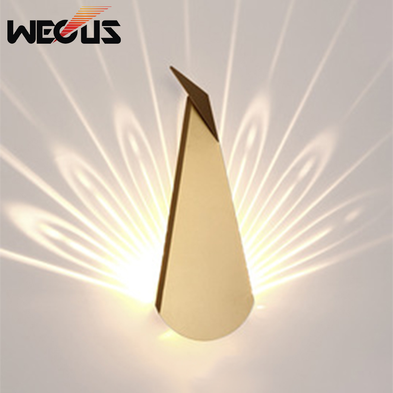Creative peacock tail indoor wall light fixtures bedside macaroon decorative modern hallway corridor sitting room sconces art deco led wall lamps bedside dinning room wall sconces indoor bar light hallway wall lighting fixtures modern pin wall light