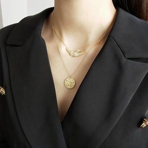 Image 3 - Louleur 925 Sterling Zilveren Gratis Fly Vogels Hanger Ketting Goud Originele Ontwerp Chic Elegante Ketting Voor Vrouwen Fijne Sieraden