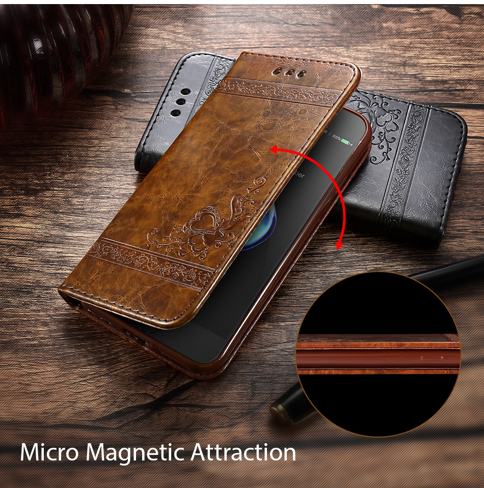 Case For iPhone 6 s 7Plus Woman Luxury Cover Flip Cases For Samsung Galaxy S6 S7 Edge (7)