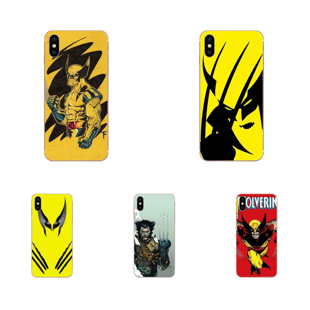 Soft Covers Cases Comics X-men Wolverine For HTC 530 626 628 630 816 820 One A9 M7 M8 M9 M10 E9 U11 Moto G G2 G3 G4 G5 G6 G7 image