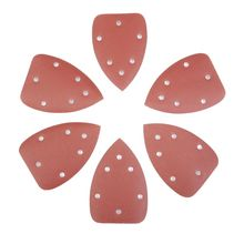10 قطعة مثلث 5 حفرة ذاتية اللصق الصنفرة تلميع جلخ أداة دلتا ساندر الرمال ورقة حصى 40 800