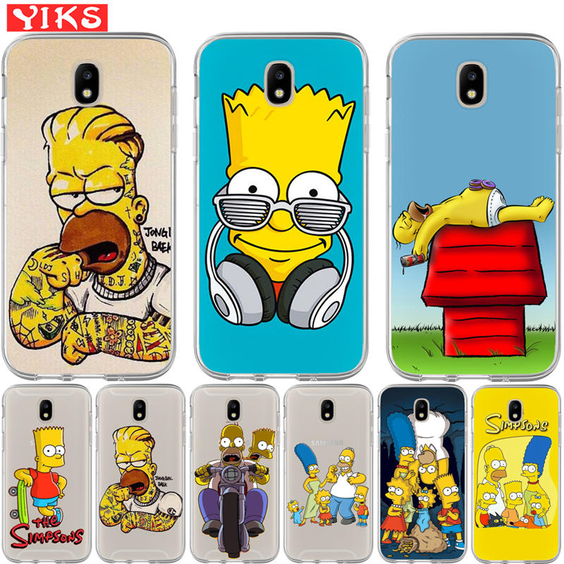 Cartoon pattern silicone Painted Pattern Phone Case For Samsung Galaxy J3 J5 J7 2015 2016 2017 EU J2 Prime Cover For Grand G530 image