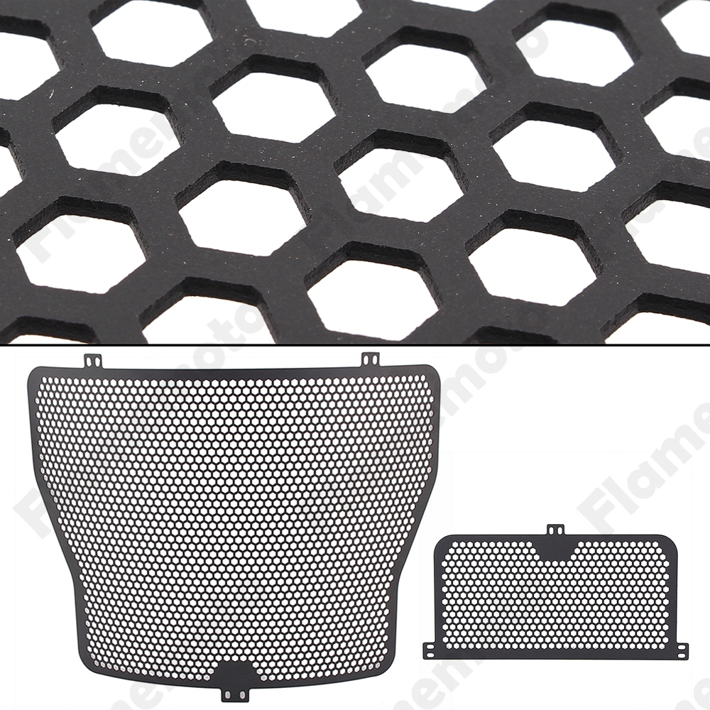 Motorbike Parts Black Radiator Grille Oil Cooler Guard Cover Protector For 2009 2013 2014 2015 2016