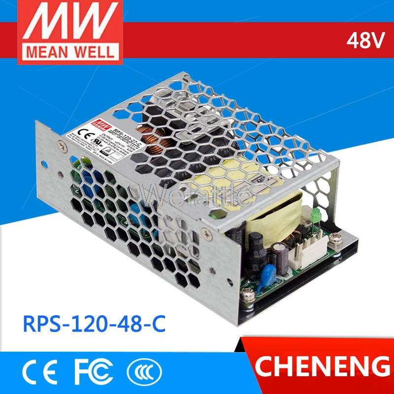 [Cheneng]MEAN WELL original RPS-120-48-C 48V 2.5A meanwell RPS-120 48V 120W Single Output Green Medical Type [powernex] mean well original rps 300 24 24v 8 33a meanwell rps 300 24v 199 9w single output medical type power supply