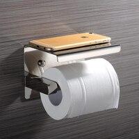 LF82006 304SUS Stainless Steel Bathroom Paper Phone Holder Bathroom Mobile Phones Towel Rack Toilet Paper Holder Tissue Boxe