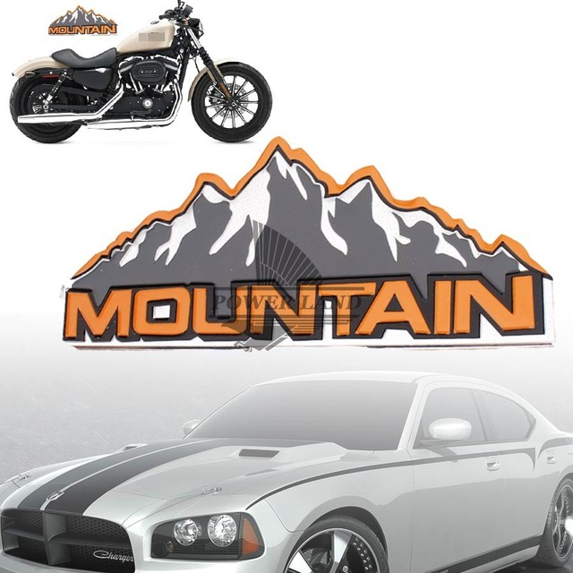 Styling mobil refitting mobil sepeda motor gunung logo decal sticker aluminium badge emblem universal fit untuk