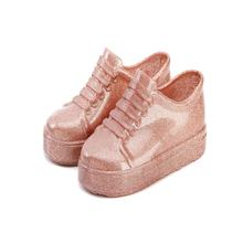 Mini Melissa 2018 Flat Slip-on Sandals New Summer Girl Jelly Sports Shoes Kids Baby Shoelace Flat Shoe Keep Warmer