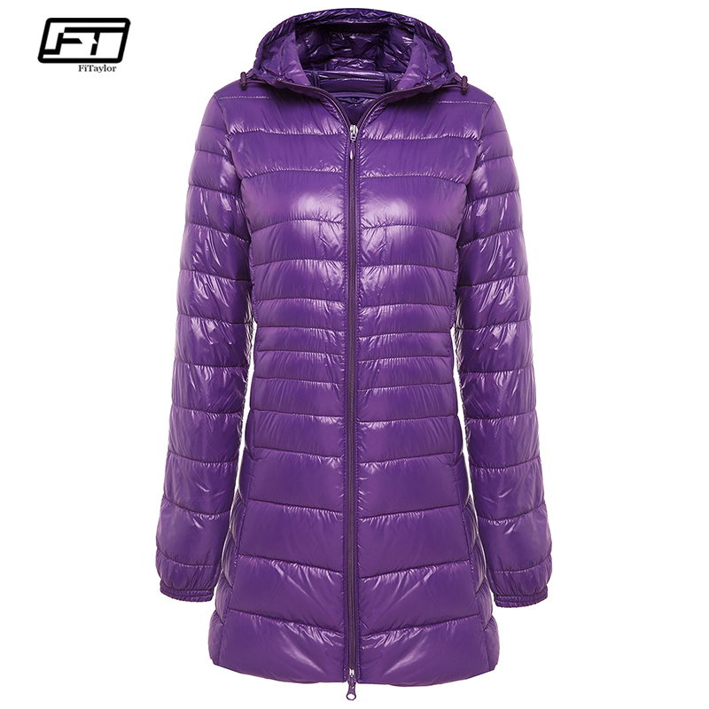 Fitaylor Winter Warm Long   Coat   Women Ultra Light 90% White Duck   Down   Jacket Female Hooded Casual Plus Size S-6xl   Down   Parka   Coat