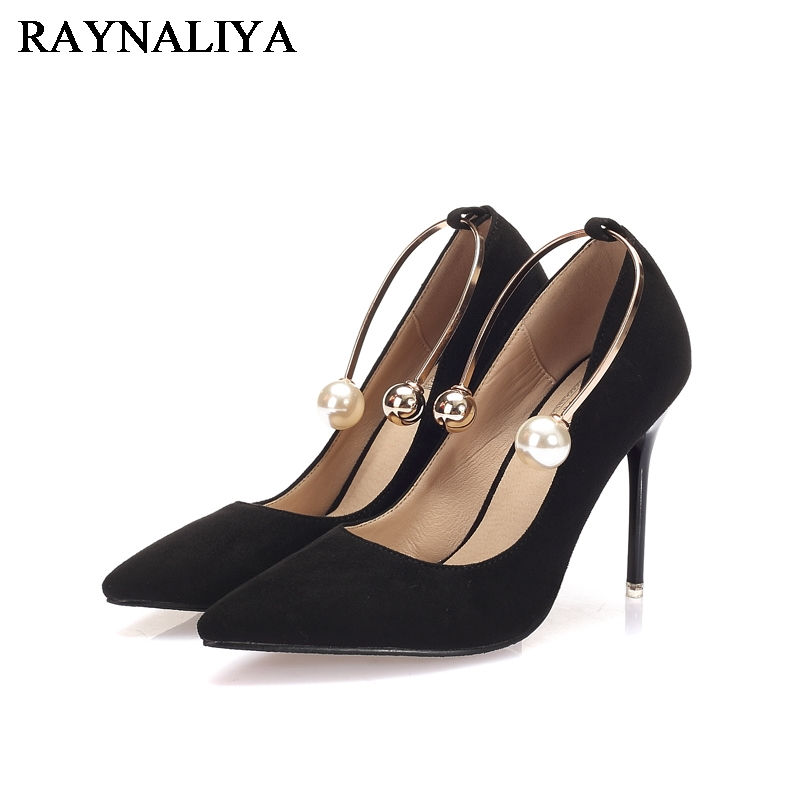 2017 New Arrive Women Pumps Sweet String Bead Pointed Toe Office Ladies Shoes Fashion Sexy High Heels Single Shoes BLY-A0044 2016 summer high heels shoes pointed toe pumps women sexy office ladies fashion wedges platform shoes