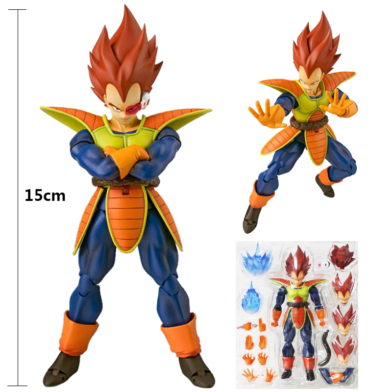 15CM Japan Anime Dragon Ball Z Movable Action Figure Collectible Model Super Vegeta Face Changeable Ornament Toy 2018 Fans Gift shfiguarts dragon ball z vegeta pvc action figure collectible model toy 6 5 16cm