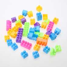 New Creative Mini Blocks 46Pcs Plastic Children Kid Educational Building Self Locking Bricks Toy Plastic Block
