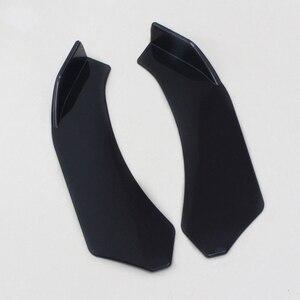 Image 1 - 2 stücke Schwarz Auto Vorderen Stoßfänger Diffusor Stoßstange Canard Lip Body Schaufeln Splitter Lip Body Protector Kit