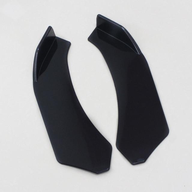 2 stücke Schwarz Auto Vorderen Stoßfänger Diffusor Stoßstange Canard Lip Body Schaufeln Splitter Lip Body Protector Kit