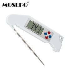 MOSEKO Digital LCD Folding Food BBQ Meat Oven Kitchen Thermometer With Backlight Voice Prompt Instant Read  Cooking Tool