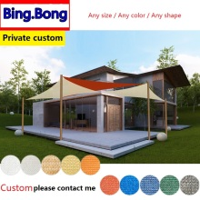 European Freeshipping Custom any size sun shade sail HDPE net lona para canopy outdoor pergola gazebo garden cover awning