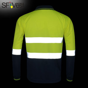 Image 2 - SFVest zicht veiligheid werk polo t shirt Vochtafvoerende Stof verwarmde heldere zilveren reflecterende t shirt polo shirt