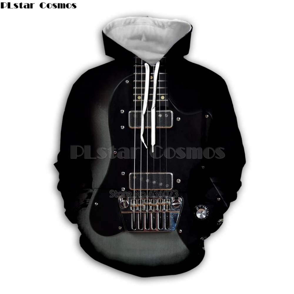 Guitar Art Musical Instrument 3D Print Long Sleeve Fashion Hoodie Hip Hop Tee Style Hooded Streetwear Casual Zipper Top Style11