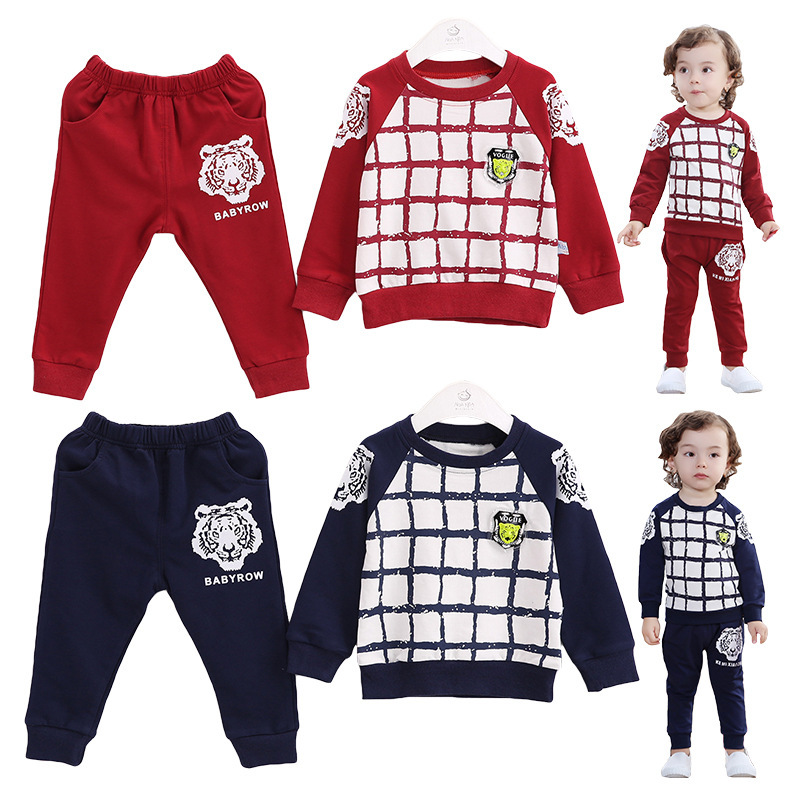 Anlencool Baby set New baby clothes sets Selling Coat Open Stitch Velour  Spring Tiger Tong Children's Sports Suit free Shipping anlencool rushed coat free shipping high quality new sliver child models british style suits baby clothing brand clothes set