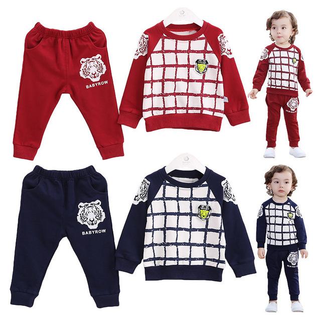 Anlencool Bebé fijó Nueva ropa de bebé conjuntos Venta de Abrigo Abierto Stitch Terciopelo Tigre Primavera Tong Niños Juego de los Deportes de envío gratis