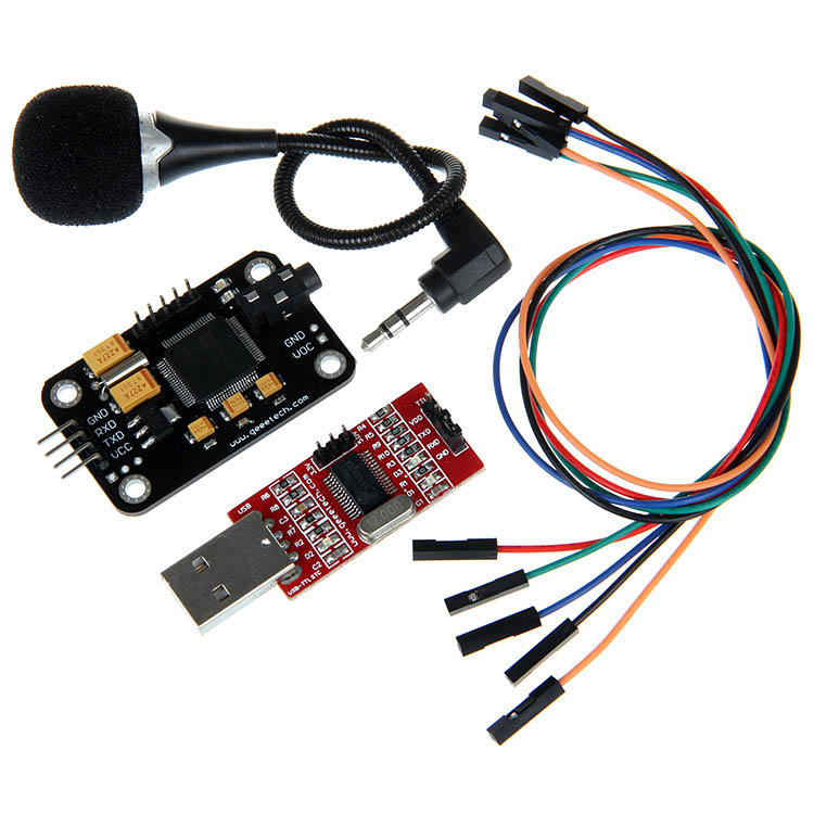 Geeetech Voice Recognition Module & Microphone USB to RS232 TTL Converter DupontGeeetech Voice Recognition Module & Microphone USB to RS232 TTL Converter Dupont