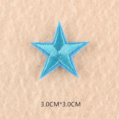 1 шт. смешанные нашивки со звездами для одежды, железная вышитая аппликация, милая нашивка эмблема на ткани, одежда, аксессуары для одежды DIY 61 - Цвет: 61T