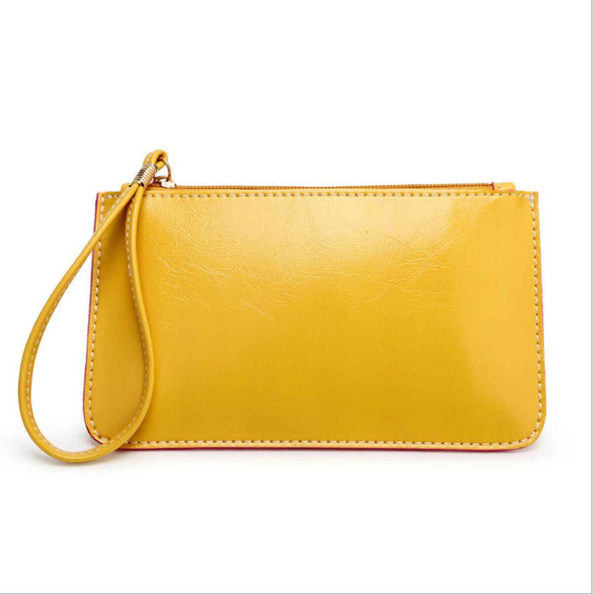 Novas Mulheres Saco Bonito Saco de Embreagem Carteira de Couro Longo Titular do Cartão Saco Do Telefone Caso Bolsa Bolsas de Senhora Saco de Moeda