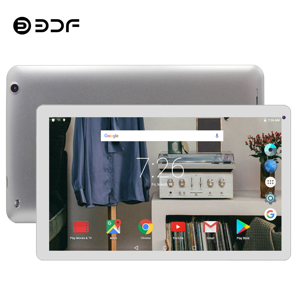 BDF 2019 Tablet 10 Inch Tablet Pc Android 5.1 Tab Quad Core Google Play 1GB+32GB 1024*600 Tablet Small Computer WiFi Tablet 10.1