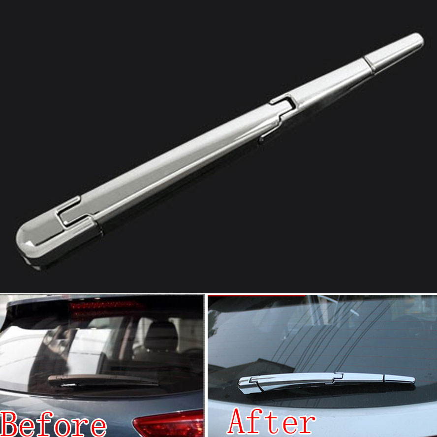 1pc ABS Chrome Rear Window Wiper Cover Molding Trim Sequined Decoration For Tucson IX35 2010-2014 Car Styling