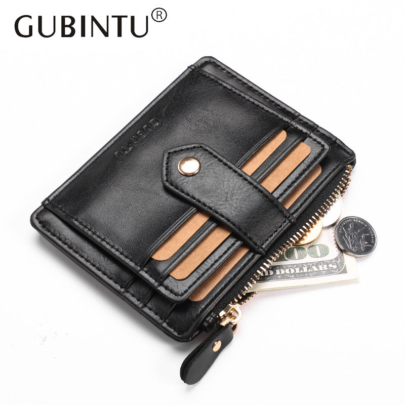 2017 Multifunction Card Wallet with Zipper Pocket Casual Leather Wallets Slim Purse Hasp Credit Coin Purses for Men Women Gift new design hasp wallets cute pokemon go wallet pocket monster purses pikachu wallets cartoon children best present wallets