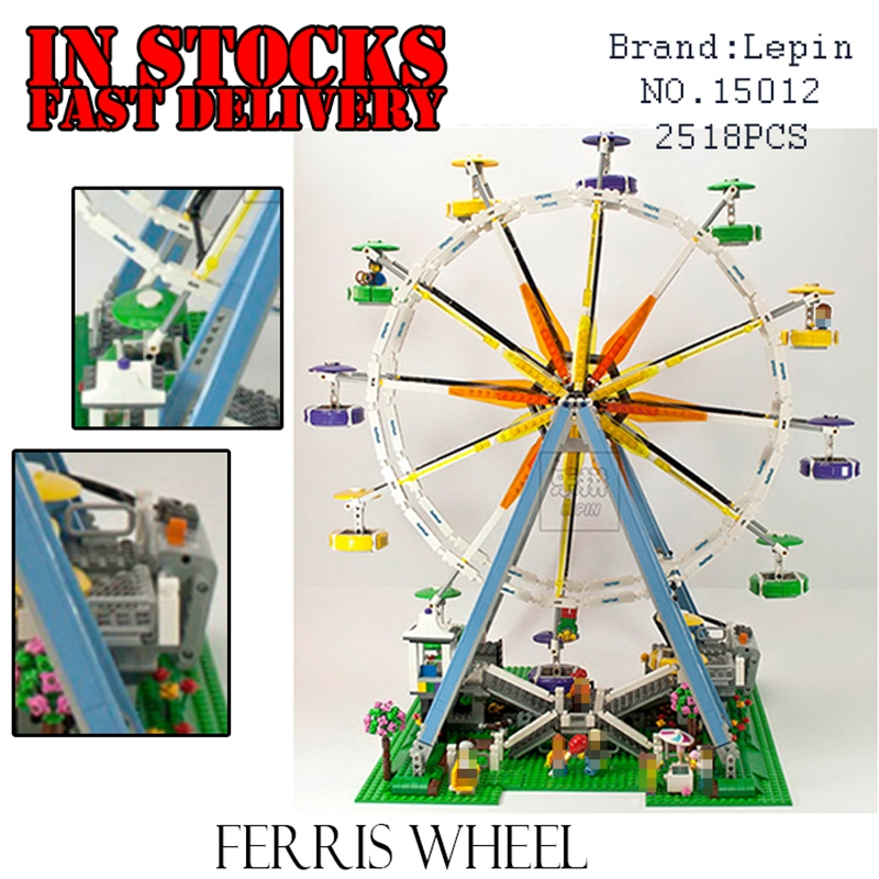 LEPIN 15012 2478Pcs City Expert Ferris Wheel Model Building Kits Blocks Bricks Toys foe children gifts Compatible 10247 2478pcs lepin 15012 city expert ferris wheel model building kits assembling block bricks compatible with 10247 educational toys