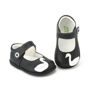 Image 3 - TipsieToes zapatos de piel auténtica de alta calidad con costuras para niños, Zapatillas para niños y niñas, novedad de Otoño de 2020, Swan