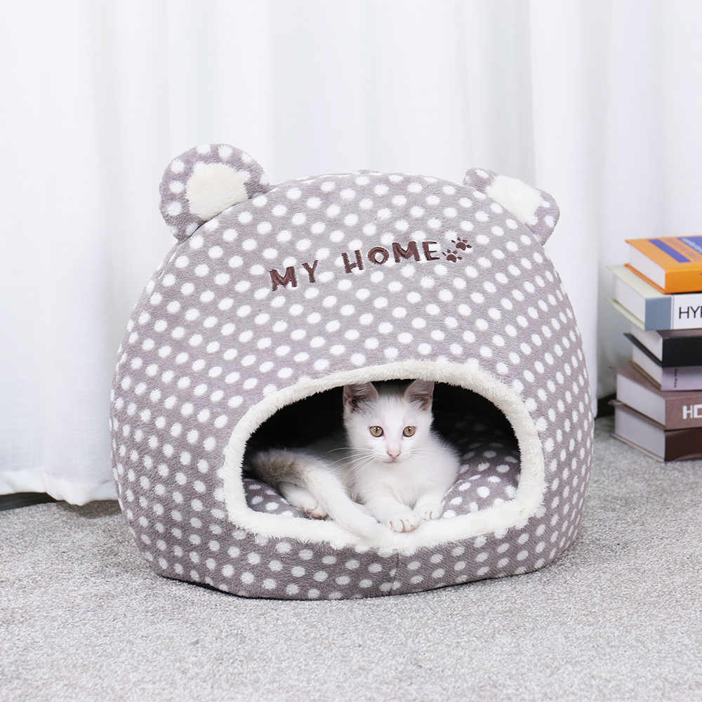 Free Shipping Cute Warm Soft House For Cat Basket Small Medium Puppy Litter Dog Bed Lounger for Animal Cama Home Kennel Cave