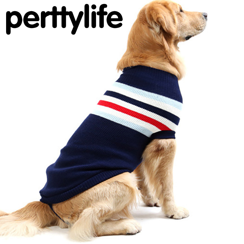 PERTTYLIFE Autumn Winter Dog Sweater For Large Dogs Thickening Sleeveless Sweaters Dog Retriever Samoyeds Pet Clothes CLT13