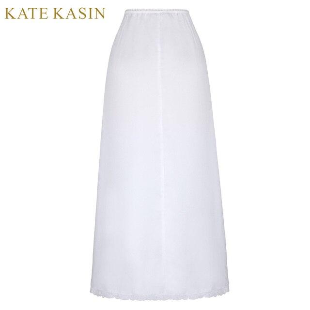 381cde2fe16584 Kate Kasin mode Maxi jupes Femme dames longues demi-slip jupon blanc noir  sous-vêtements doux Saia Longa Jupe sous-Jupe 2017